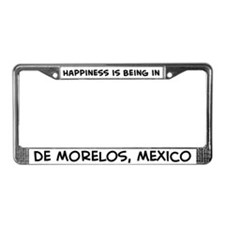 Happiness is de Morelos License Plate Frame