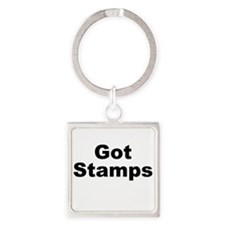 Got Stamps Square Keychain