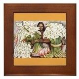Diego Rivera Girl Cala Lilies Art Framed Tile