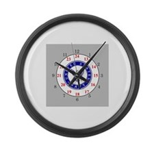Cute 24 hours Large Wall Clock