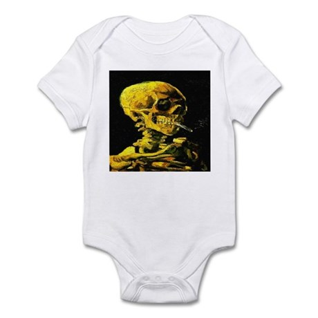 Smoking Skull van Gogh 1853-1 Infant Bodysuit