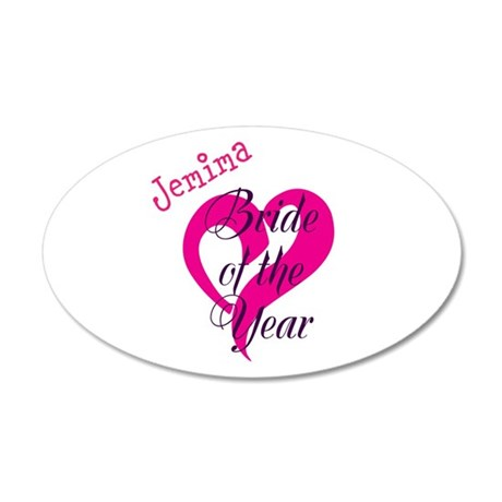 Personalized Bride of the Year Design 35x21 Oval W