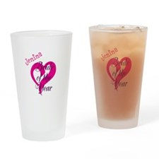 Personalized Bride of the Year Design Drinking Gla