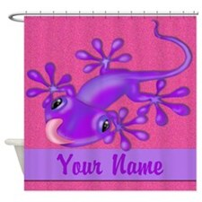 Pink Purple Personalized Shower Curtain