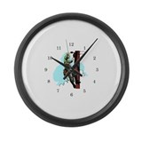 Funny Power lines Large Wall Clock