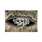 Vintage Catrina Calavera Rectangle Magnet