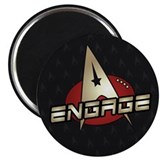 Picard Engage Badge 2.25&quot; Magnet (100 pack)