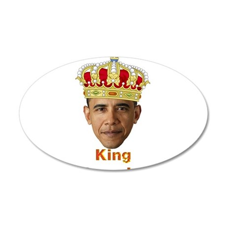 King Barack I v2 35x21 Oval Wall Decal