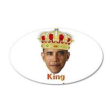 King Barack I v2 20x12 Oval Wall Decal