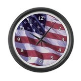 Cute Military and patriotism Large Wall Clock