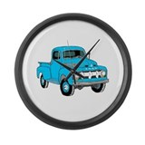 Cute Old trucks Large Wall Clock