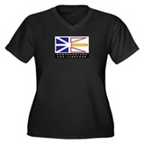 Newfoundland and Labrador Flag Women's Plus Size V