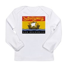 New Brunswick Flag Long Sleeve Infant T-Shirt