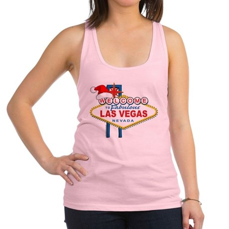 Welcome to Las Vegas Christmas Racerback Tank Top