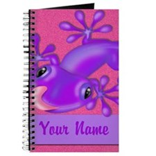 Pink Purple Gecko Personalized Journal