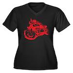 Norton Cafe Racer Women's Plus Size V-Neck Dark T-