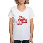 Norton Cafe Racer Women's V-Neck T-Shirt