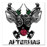 "Aftermas Square Car Magnet 3"" x 3"""