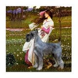 Windflowers / PS Giant Schnauzer Tile Coaster
