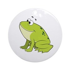 cartoon frog.png Ornament (Round)