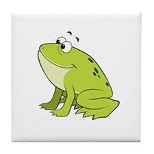 cartoon frog.png Tile Coaster