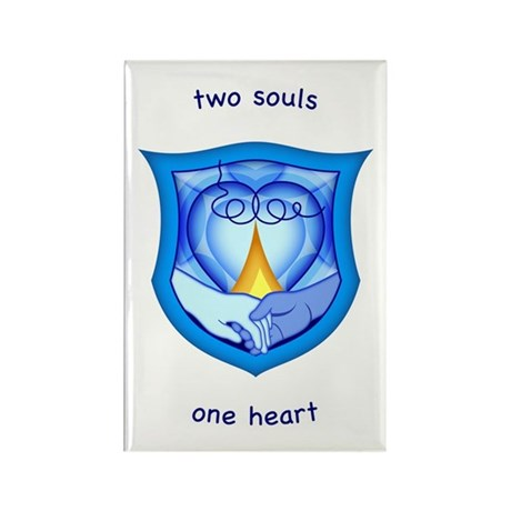 2 Souls 1 Heart Rectangle Magnet (10 pack)
