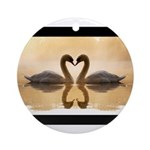Love Swans Ornament (Round)