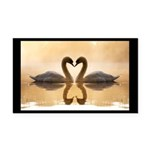 Love Swans Rectangle Car Magnet