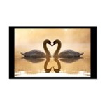 Love Swans 20x12 Wall Decal