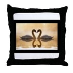 Love Swans Throw Pillow