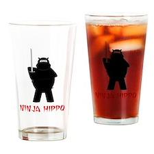 Cute Hippos Drinking Glass