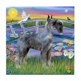 Sunrise Lilies/PS Giant Schnauzer Tile Coaster