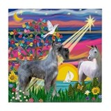 Magical Night/PS Giant Schnauzer Tile Coaster