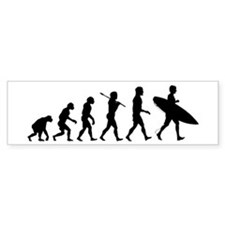 Human Surfer Evolution Bumper Sticker