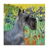 Irises (VanGogh)/PS Giant Schnauzer Tile Coaster