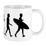 Human Surfer Evolution Mug