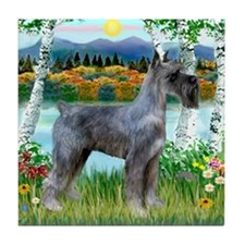 Birches/PS Giant Schnauzer Tile Coaster