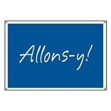French Allons-y Banner