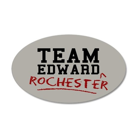 Team Edward Rochester 35x21 Oval Wall Decal