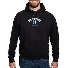 CUSTOM TEXT Besties (blue) Hoodie