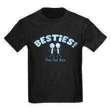 CUSTOM TEXT Besties (blue) T