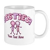CUSTOM TEXT Besties (pink) Small Mug