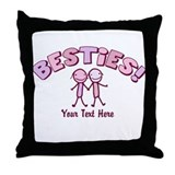 Best friend Throw Pillows