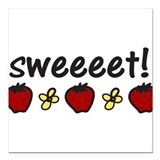 "Sweet Square Car Magnet 3"" x 3"""