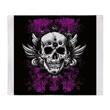 Grunge Skull Throw Blanket