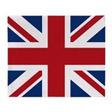 United Kingdom Union Jack Fla Throw Blanket