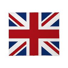 United Kingdom Union Jack Fla Throw Blanket