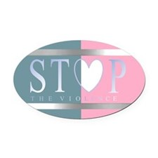 Stopvio Oval Car Magnet