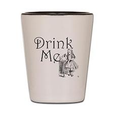 Cute Alice in wonderland drink me Shot Glass