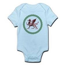 Celtic Knots And Red Dragon Infant Bodysuit
